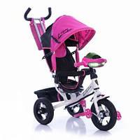 Детский Трёхколёсный велосипед обновлённый 2000 С Lamborghini Air ФАРА розовый
