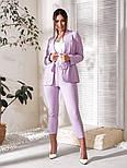 Жіночий костюм трійка (піджак, штани, футболка)великого розміру, фото 3