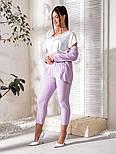 Женский костюм тройка (пиджак, брюки, футболка)большого размера, фото 4