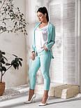 Жіночий костюм трійка (піджак, штани, футболка)великого розміру, фото 5