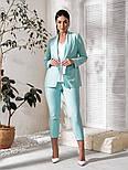 Женский костюм тройка (пиджак, брюки, футболка)большого размера, фото 6