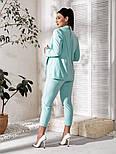 Жіночий костюм трійка (піджак, штани, футболка)великого розміру, фото 7