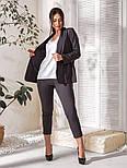 Жіночий костюм трійка (піджак, штани, футболка)великого розміру, фото 2