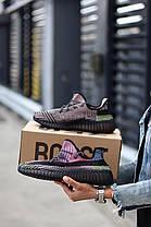 Кросівки Adidas Yeezy Boost 350 v2 Yecheil Reflective. Чоловічі кросівки Адідас Ізі Буст чорні, фото 2