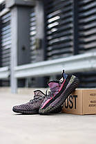 Кросівки Adidas Yeezy Boost 350 v2 Yecheil Reflective. Чоловічі кросівки Адідас Ізі Буст чорні, фото 3