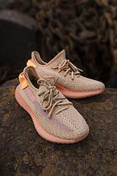 Кроссовки Adidas Yeezy 350 V2 Clay. Кроссовки Адидас Изи 350 оранжевые