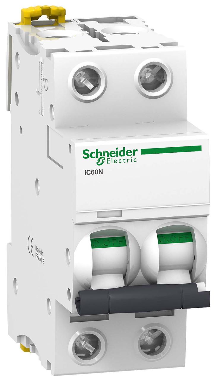 Автоматичний вимикач Schneider Electric Acti 9 iC60N(H) 2p 25A C 6kA A9F79225