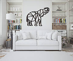 Объемная картина из дерева DecArt Elephant geometry