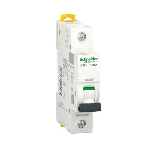Автоматичний вимикач Schneider Electric Acti 9 iC60N(H) 1p 25A C 10kA A9F89125