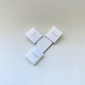 Коннектор для светодиодной ленты Т-образный 8мм на три зажима