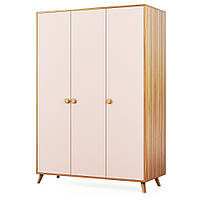Шкаф 3Д, детская комната Колибри,орех марино/розовый, Свит меблив