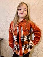 Детская стильная вельветовая рубашка оверсайз, фото 1