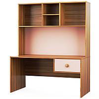 Стол с надставкой, детская комната Колибри,орех марино/розовый, Свит меблив