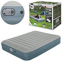 Надувная кровать-матрас с встроенным аккумуляторным насосом,USB кабель, 203-152-36см