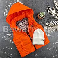 Жилетка детская с капюшоном BEWARM Апельсин