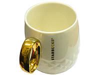 Керамическая чашка Starbucks Gold белая