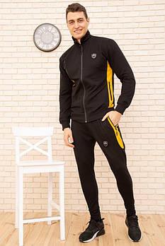 / Размер S,M,L,ХL,ХХL / Мужской спортивный костюм с молнией 154R100 / цвет черный