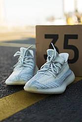 Кроссовки Adidas Yeezy 350 V2 Cloud White 36-45 р. Белые кроссовки Адидас Изи 350