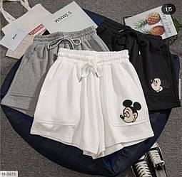 Белые тканевые шорты с принтом Микки-Мауса White