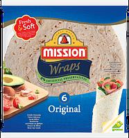 Тортилья пшеничная Mission Wraps, 6шт. (370г)