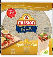 Тортилья пшеничная с семенами льна Mission Wraps, 6шт. (370г)