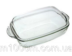 Гусятница стеклянная с крышкой 36,5*20,8см./5,5л (3,2л+2,3л) SIMAX