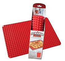 Силиконовая форма для выпекания PYRAMID PAN 40X25CM Красная