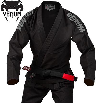 Кимоно для джиу-джитсу Venum Contender Evo BJJ Gi Black, фото 2