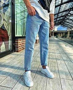 Чоловічі джинси демісезонні сині Slim