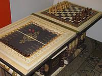 "Шахматный стол  2в1 Книга ""шахматы+нарды"""