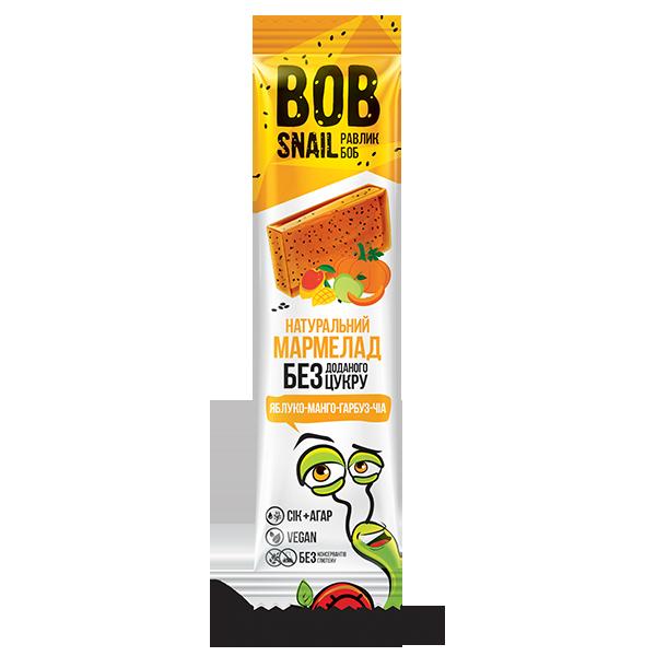 Натуральный мармелад без сахара Bob Snail (Улитка Боб), яблоко + манго + тыква + чиа