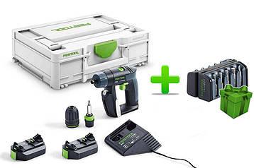Акумуляторний дриль-шуруповерт Festool CXS 2,6-Plus