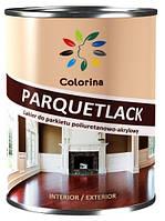 Лак полиуретан-акриловый паркетный полуматовый COLORINA 0.75 л