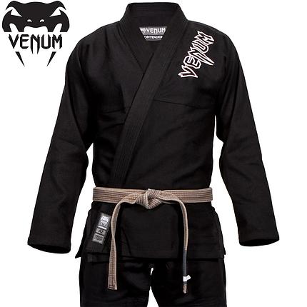 Кимоно для джиу-джитсу Venum Contender 2.0 BJJ Gi Black, фото 2