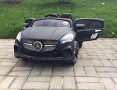 Детский Электромобиль Mercedes M 2702 черный матовый, колеса EVA, пульт bluetooth, фото 3