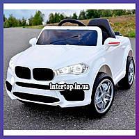 Детский электромобиль на аккумуляторе BMW M 3180 с пультом радиоуправления для детей 3-8 лет белый