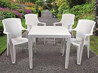 Набор садовой мебели King 1 стол + кресло Eden 4 шт производство Италия цвет Белый