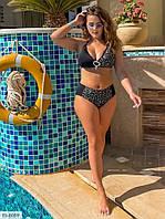 Раздельный купальник женский красивый с чашками большие размеры батал р-ры 46-60 арт. 043