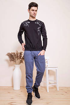 / Размер XXL / Мужские спортивные штаны 102R143 / цвет джинс