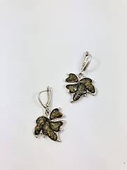 Серьги серебряные с янтарем 432EAS-z