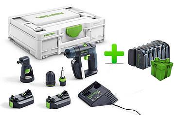 Акумуляторний дриль-шуруповерт Festool CXS 2,6-Set