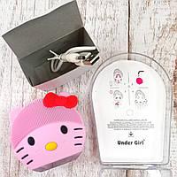 Электрическая силиконовая щетка-массажер для чистки лица и умывания Under Girl mini2 Kitty Оригинальные фото