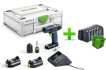 Акумуляторний дриль-шуруповерт Festool TXS 2,6-Plus