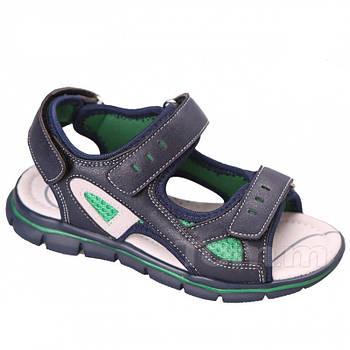 Детские спортивные сандалии мальчикам TomM, синие босоножки на трех липучкам Томм