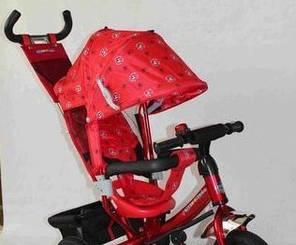Детский трехколесный велосипед Azimut Trike  BC-17B красный надувные колеса, фото 2