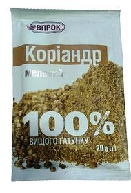 """Коріандр мелений """"Впрок"""" 20г"""