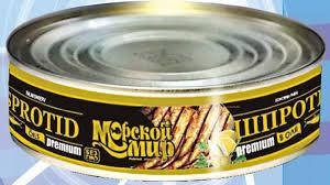 """Рибна консерва шпроти в олії Преміум """"Морской мир"""" 150 г"""