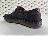 Ортопедические летние туфли синие из нубука на платформе Detta, фото 8