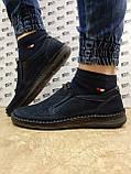 Ортопедические летние туфли синие из нубука на платформе Detta, фото 2