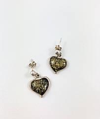 Серьги серебряные с янтарем 360EAR-z